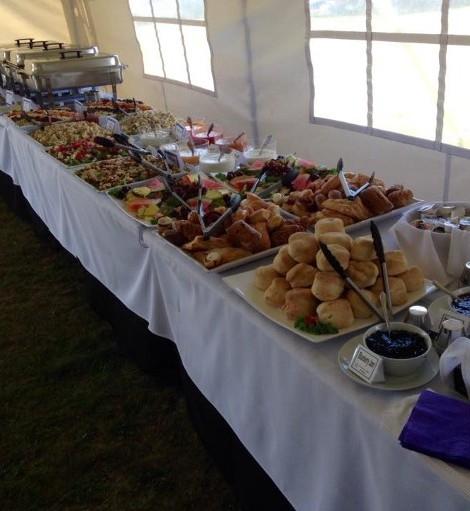 Food Table at an Event Catering in New Glasgow, NS